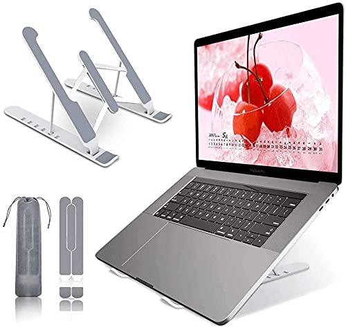 VersionTECH. Supporto PC Portatile, Supporto Portatile Pieghevole con 6 livelli di angoli regolabili in altezza, supporto verticale per PC per tutti i computer portatili e tablet