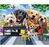 Ytdzsw 3D Fototapete Eine Gruppe Von Hunden Aus Den Bildern Custom Wandbild 3D Wandbilder Wallpaper Für Wohnzimmer Wände 3D-Malerei-200X140Cm