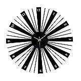 Reloj de pared grande y moderno marco de metal, reloj de pared de cuarzo silencioso (funciona con pilas), decoración para el hogar, sala de estar, dormitorio, cocina (55,8 cm)