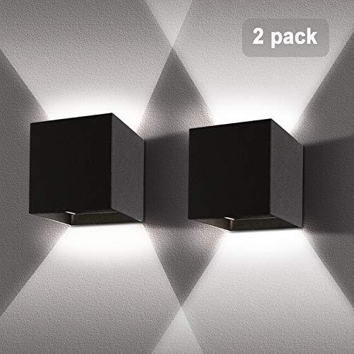 LED Wandlampen 12 W 2 Stuks Waterdicht IP65 met Verstelbare Beam Hoek Binnen Wit 6000K