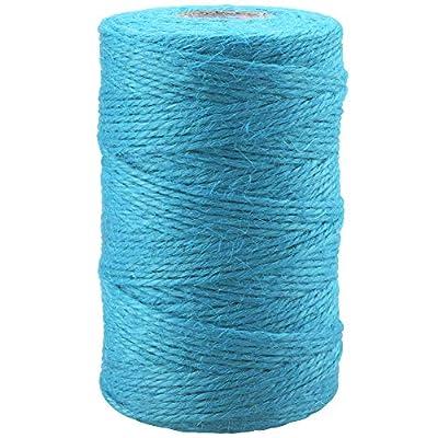 Blue Jute Twine,328 Feet Colourful Jute Twine,Christmas Twine,Best Arts Crafts Gift Twine