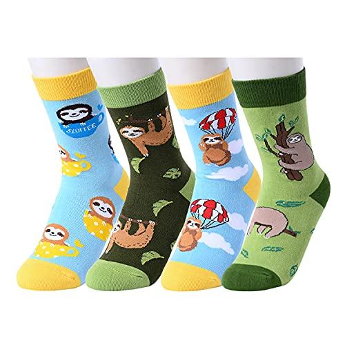 HAPPYPOP Novelty Boys Socks Kids Socks Boys socks 7-10 years old, Sloth Socks Kids Sloth Socks Sloth Gifts for Boys