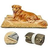 TVMALL Colchoneta para Perros Cama Gatos Reversible Almohadilla para Mascotas Lavable Cojín de Felpa Suaves Exterior Viaje Mantas Adecuado para Perros Grandes Medianos y Qequeños, Marrón, 110 x 70cm