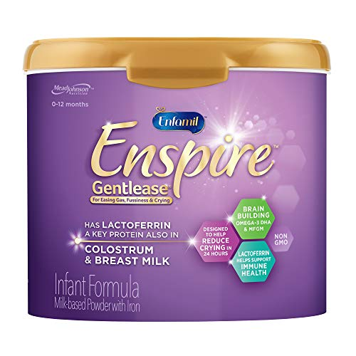 Enfamil Enspire Gentlease Baby Formula Milk Powder, 20 Ounce (Pack of 1)- MFGM, Lactoferrin (Found in Colostrum), Omega 3 DHA, Iron, Probiotics, Immune Support