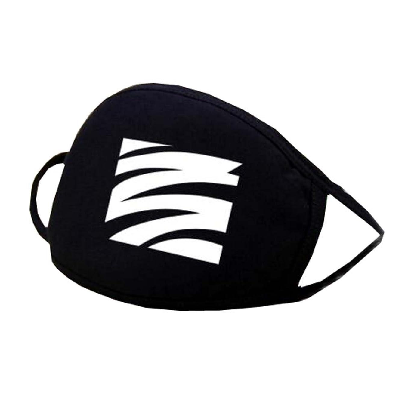高揚した寺院名詞男女兼用ブラックコットンフェイス口マスク再使用可能防塵抗菌マスク - K
