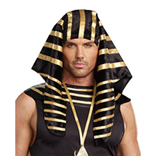 Dreamgirl Men's Pharaoh Head Piece, Black, One Size