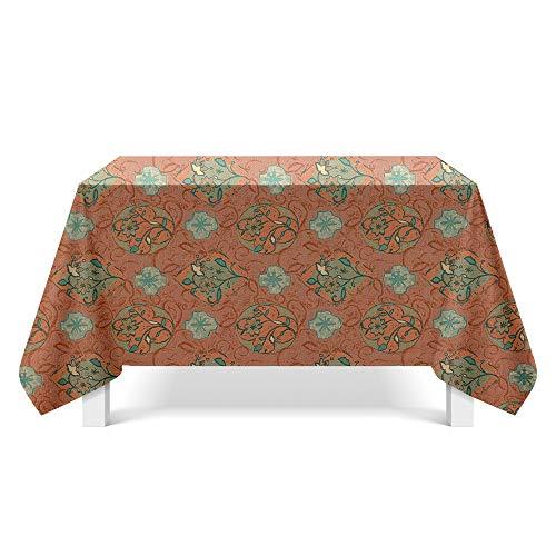 DREAMING-Gedruckte Strukturierte Stoff Tischdecken Home Esstisch Stoff Tv-Schrank Couchtisch Stoff Runde Tisch Tischset 140cm * 180cm