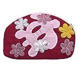 ハワイアンキルト アロハポーチ/化粧ポーチ 小物入れ ハワイアン雑貨 ピンク