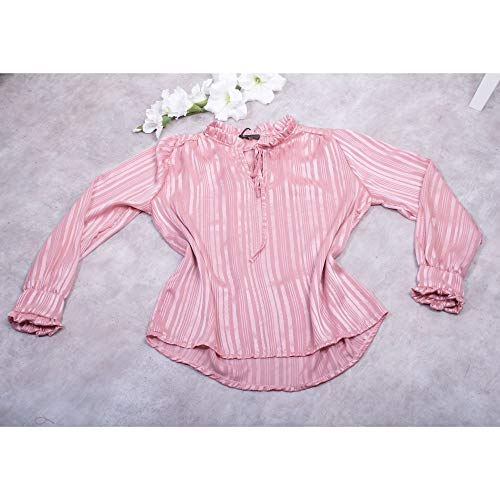 Primtex dames blouse lange mouwen voile glitter transparant kraag
