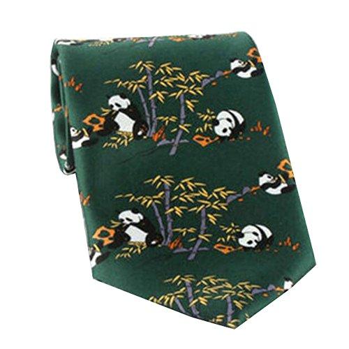 Black Temptation Motif Mode Hommes Cravates/Panda noeuds papillon/cravate/écharpe/Neckwear-vert