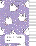 Music Notebook: Cute Unicorn Cover Design | Blank Sheet Music Notebook | Manuscript, Staff Paper, Composition Books Gifts | 100 Pages, Large...