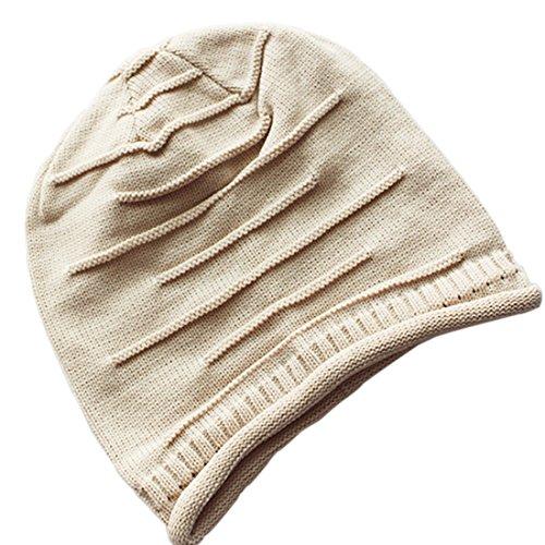 Bonnet plissé unisexe Beige Beige Oversized