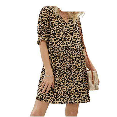 Vestido de Mujer Moda Sexy Tamaño Grande Personalidad Impresión Diseño Original Cuello en V Vestido de...