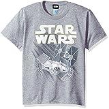 Star Wars boys Zoom Space Logo Ship Graphic Tee T Shirt, Ath Htr, Medium US