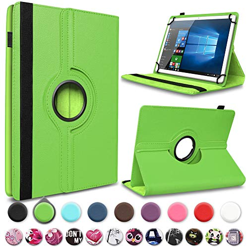 UC-Express Tablet Hülle für Wortmann Terra Pad 1005 Tasche Schutzhülle Schutz Cover Drehbar, Farben:Grün