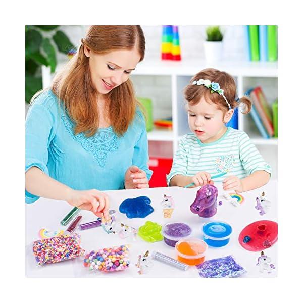 Unicorn Slime Kit for Girls - Slime for Girls, Fluffy Premade Slime with Unicorn Slime Charms, Glitter, DIY Pink, Toys… 8