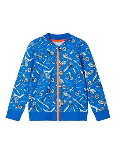 NAME IT Jungen NMMNATRICK LS Sweat Card BRU Pullover, Imperial Blue, 86