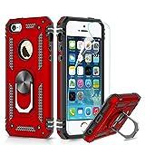 LeYi Coque iPhone Se/ 5S /5 avec Anneau Support, Double Couche Renforcée Défense...