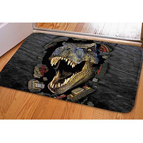Coloranimal Cool 3D Dinosaurio Felpudo entrada camino interior exterior alfombra antideslizante hogar decorativo