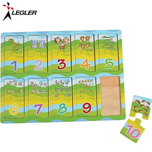 Legler - Jouets de construction et puzzle - Apprendre les chiffres Animaux