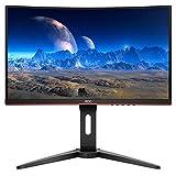 AOC M24G1C 24' Curved Frameless Gaming Monitor, FHD 1080p, 1ms, 144Hz, VGA/HDMI/Displayport (Renewed)