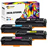 Toner Bank Compatible Toner Cartridge Replacement for HP 202A CF500A 202X for HP Color Laserjet Pro MFP M281fdw M281cdw M254dw M281 M254 CF501A CF502A CF503A Toner (Black Cyan Yellow Magenta, 4-Pack)