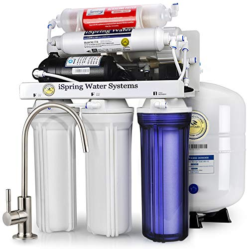 iSpring RCC7P-AK Under Sink 6-Stage Reverse Osmosis Drinking Filtration System $220.09 + FS