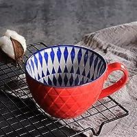 マグカップ レトロなノルディックエンボスパーソナリティセラミックマグデザートシリアル朝食牛乳コーヒーカップカワイイマグカップ (Color : Style04)