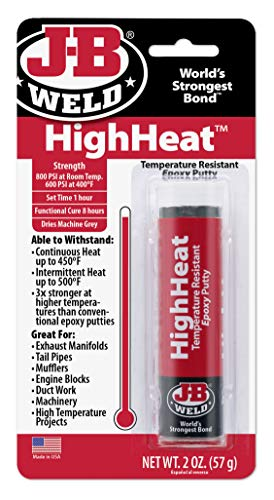 J-B Weld 8297 HighHeat 550 Degree Epoxy Putty Stick - 2 oz.
