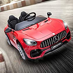 JOYBASE 12V Electric Ride On Car, Licensed Benz Cars for Kids