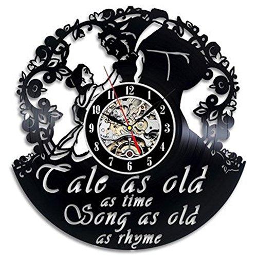 OOFAY Clock@ Wanduhr aus Vinyl Schallplattenuhr Upcycling Cale as Old Design-Uhr Wand-Deko Vintage Familien Zimmer Dekoration Kunst Geschenk Schwarz, Durchmesser 30 cm