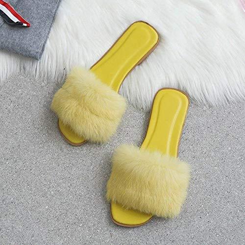 Zquest Zapatillas de Arranque para Hombre, Zapatillas Planas para Mujer, Zapatillas de Moda para otoño e Invierno-Yellow_42