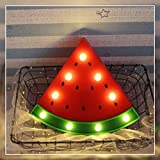 Watermelon Marquee Light GUOCHENG Decor Light LED Night Light Battery Operated Night Table Lamps for Nursery Children Kids Bedroom Lighting Decor, Birthday Christmas Gifts for Kids (Red Watermelon)