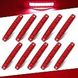 """Teguangmei 10pcs Rosso Luce di Posizione Laterale 9LED Luci di Avvertimento del Rimorchio Laterale Luci di Posizione del Camion 3.9"""" Luci di Ingombro Spia per Rimorchio del Veicolo 12-24V"""