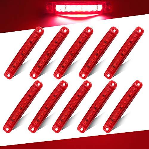 Teguangmei 10Pcs LED Luces de Posición Lateral 12-24V Rojo de Posición Lateral 3,9