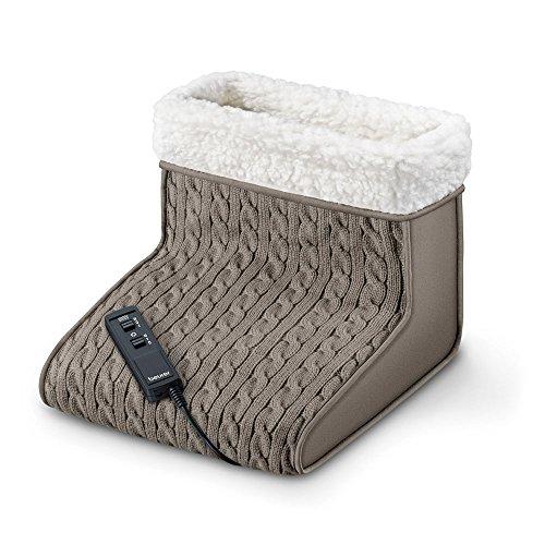 Beurer FWM 45 Fußwärmer mit Massagefunktion, Wärme und Entspannung für beanspruchte Füße mit weichem Teddy-Futter