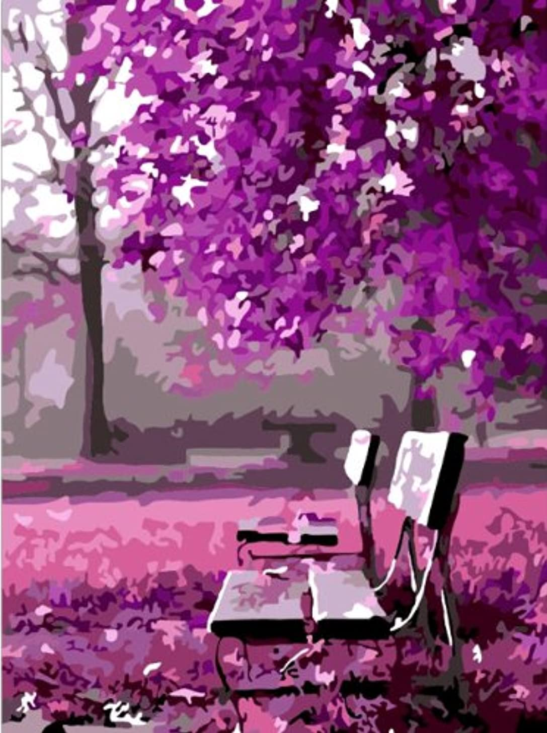 Colour Talk Diy oil painting, paint by number kit- Wait for romance 1620 inch.