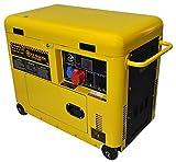 Generador eléctrico 6 KW trifásico - Diesel - Grupo electrógeno insonorizado - Arranque...