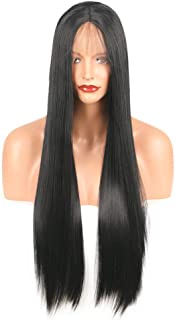 Vergeania レースフロントかつら斜め前髪アニメコスチュームロングストレートコスプレウィッグパーティーかつら耐熱合成髪のかつら用女性ファッションかつら (サイズ : 16