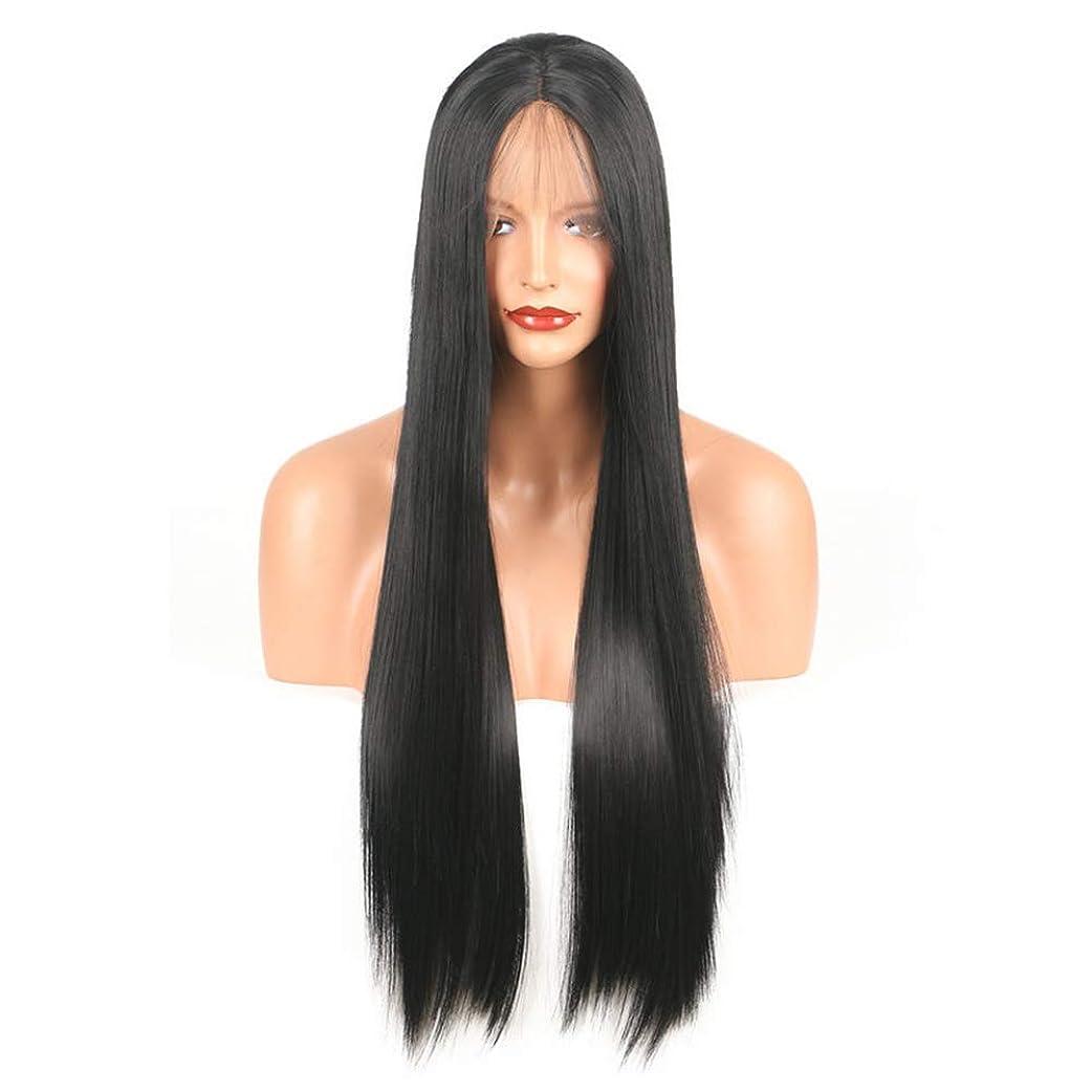 亜熱帯キャプションデザートBOBIDYEE レースフロントかつら斜め前髪アニメコスチュームロングストレートコスプレウィッグパーティーかつら耐熱合成髪のかつら用女性ファッションかつら (サイズ : 18