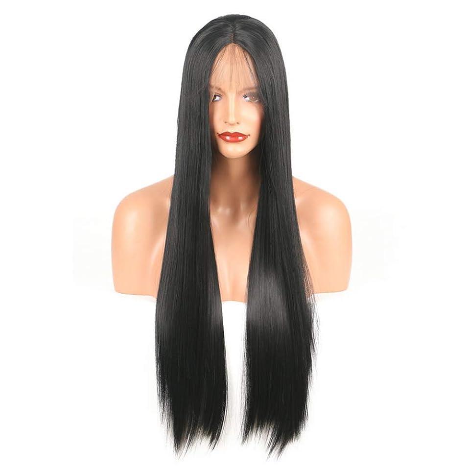 大使陽気な打倒BOBIDYEE レースフロントかつら斜め前髪アニメコスチュームロングストレートコスプレウィッグパーティーかつら耐熱合成髪のかつら用女性ファッションかつら (サイズ : 18
