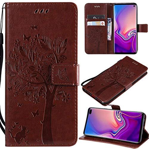 Kihying Pelle Case per LG G5 Cover Custodia Portafoglio a Fogli mobili Staffa e Slot per schede (Marrone - KHT04)