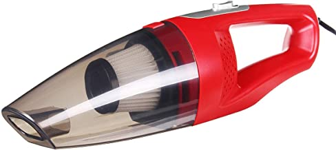 12V Twilled Car Handheld Vacuum Cleaner 3800PA Secure Suction Power (Color : Red) (Color : Red)