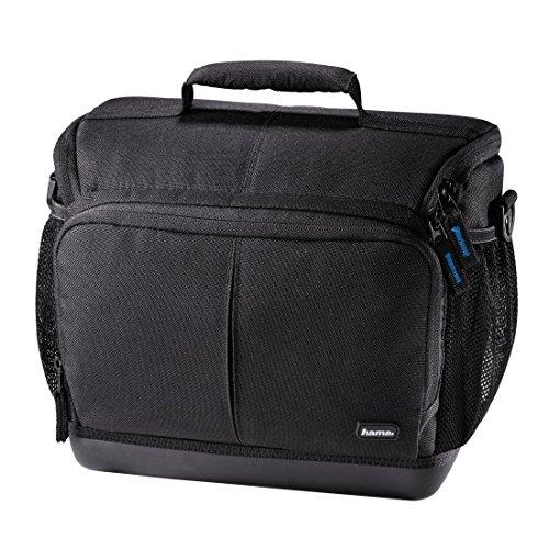 Hama Kameratasche Outdoor für DSLR Kamera und zwei Objektive, wasserabweisender Hartschalenboden, stoßfest, gepolstert, Innenmaße 22 x 12,5 x 19,5 cm, Ancona HC 140, schwarz