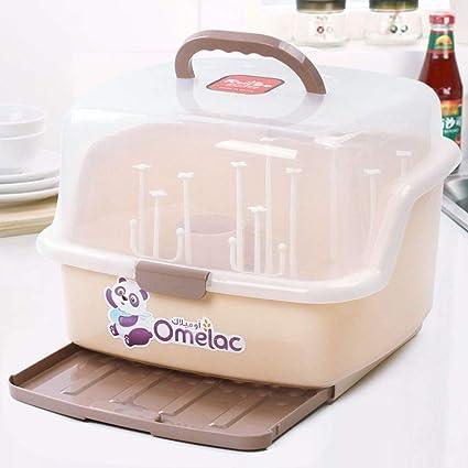 Macabolo Baby-Flasche-Trocknung Rack Countertop Aufbewahrung Rack Baby Besteck Geschirr Halter f/ür Baby-Gerichte Sippy Tassen Nippel