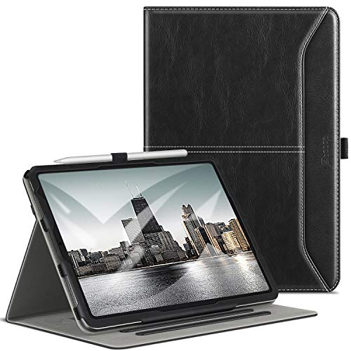 ZtotopCase Case for iPad Air 4 10.9, Premium Leather Business Case, Whit Auto Sleep/Wake, Multiple Angle, for iPad Air 4 10.9 Inch 2020, Black