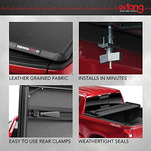 extang Trifecta 2.0 Soft Folding Truck Bed Tonneau Cover   92424   Fits 2019 - 2021 Dodge Ram w/Rambox, w/ and w/o Multi-Function (Split) Tailgate 5' 7