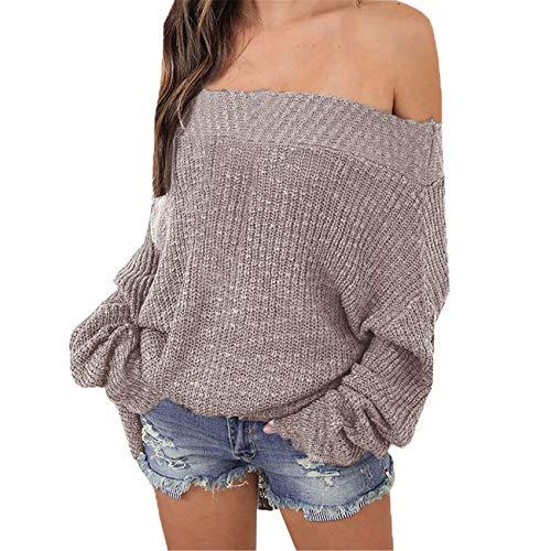 Herbst Und Winter Lazy Wind Loose Plus Size Sweater Damen Off-Shoulder Damen Strickpullover