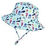 Chalier Sombrero de Playa para Bebé Sombrero para el Sol Sombrero de Pescador para Bebé Ajustable para Niños Gorro de Bebé UPF 50