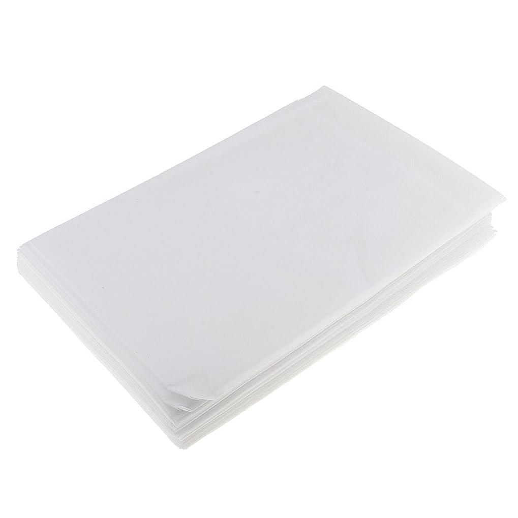 振動させるダイジェスト安全SONONIA 使い捨て 美容室/マッサージ/サロン/ホテル ベッドパッド 無織PP 衛生シート 10枚 全3色選べ - 白
